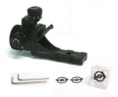 Rear sight set with snow cover, rubber eye shade 5 aperture inserts Anschutz 6827