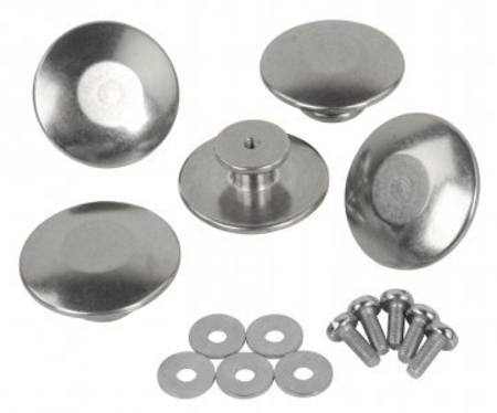 Alu Buttons for Jackets 5 piece per bag / Black ahg 189